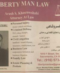 Liberty Man Law ,  Arash S. Khosrowshahi
